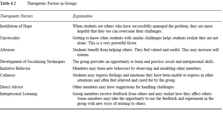 Group counseling in schools research paper
