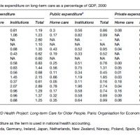 Organization and Financing of Long Term Care Research Paper